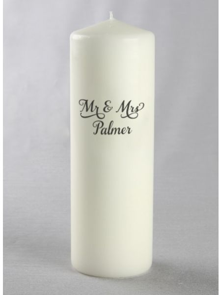 Mr. & Mrs Custom Pillar Candle