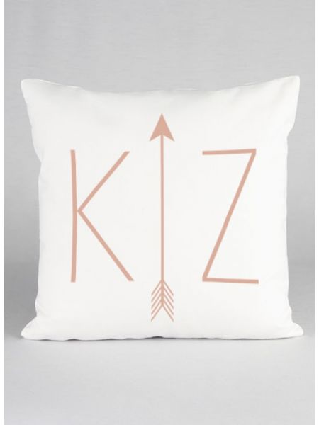 Initials & Arrow Canvas Decor Pillow
