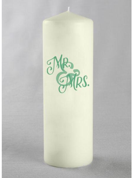 Mr & Mrs Pillar Candle