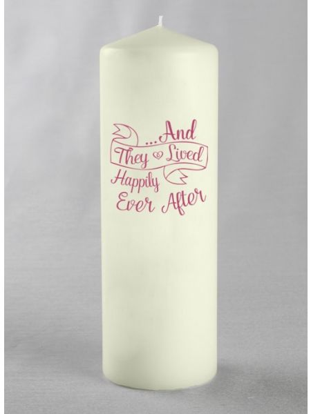And They ... Pillar Candle