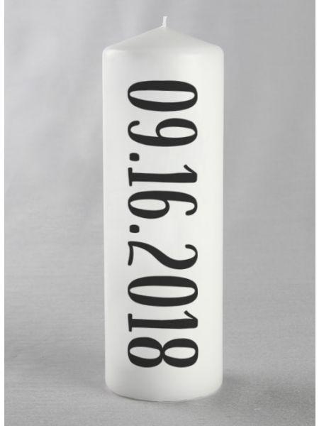 Date Pillar Candle