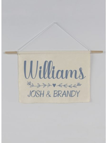 Last Name Canvas Sign