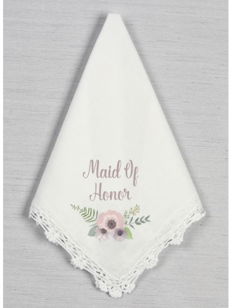 Wedding Party Crochet Handkerchief