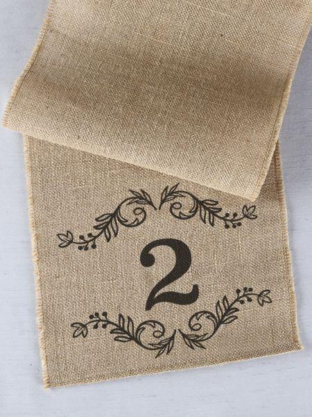 Number Printed Table Runner