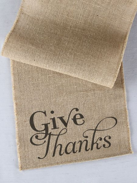 Give Thanks Printed Table Runner