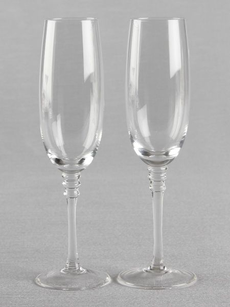 Beveled Stem Toasting Flutes
