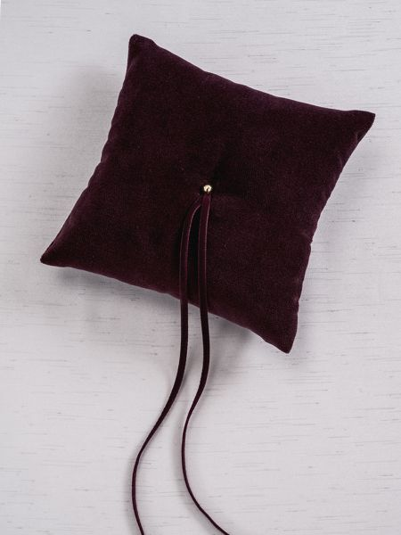 Velvet Ring Pillow - Bordeaux