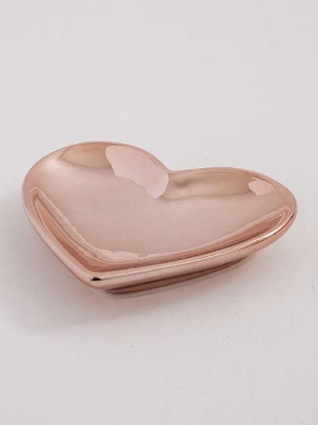 Heart Flat Dish - Rose Gold