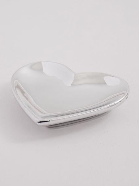 Heart Flat Dish - Silver