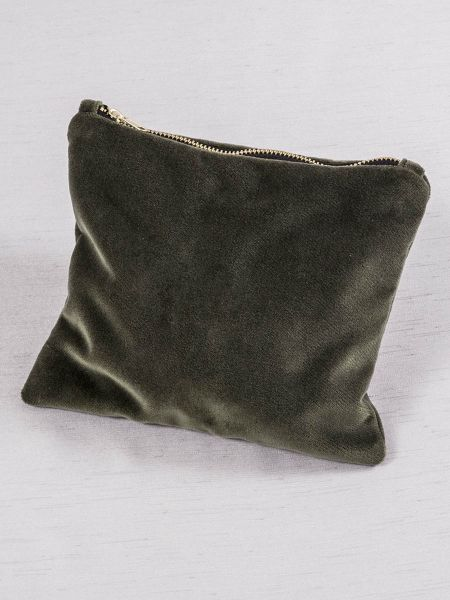 Velvet Cosmetic Bag-Grey
