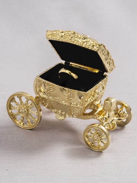Gold Carriage Ring Box
