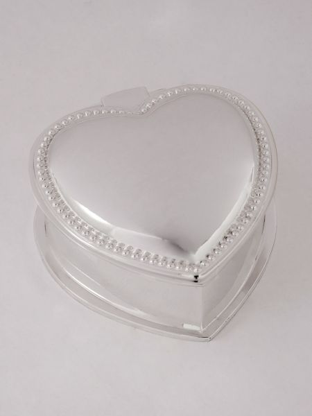 Beaded Edge Heart Jewelry Box