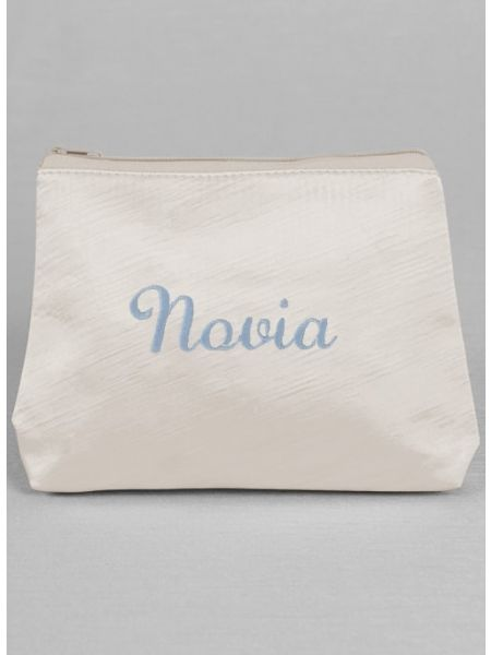 Novia Embroidered Cosmetic Bag