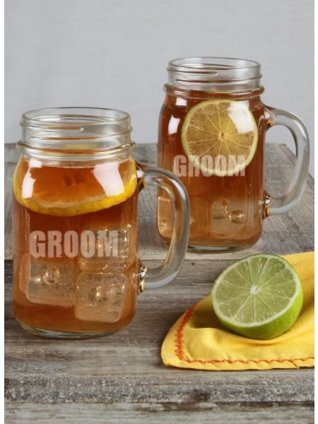 Mason Jar Set Groom / Groom
