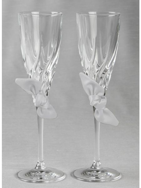 Love Knot Toasting Flutes