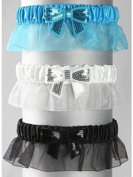 Bella Sequin Bow Garter