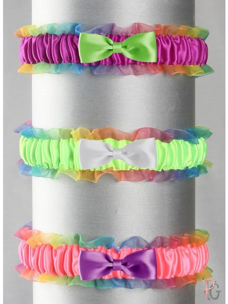 Rainbow Band Custom Bow Tie Garter