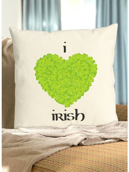 I Love Irish Pillow
