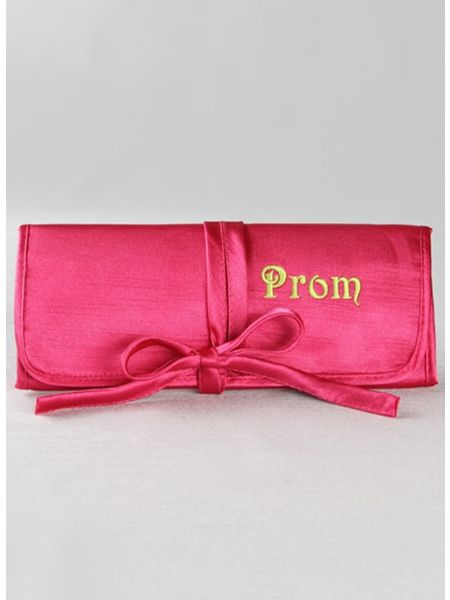 Prom Embroidered Jewelry Roll