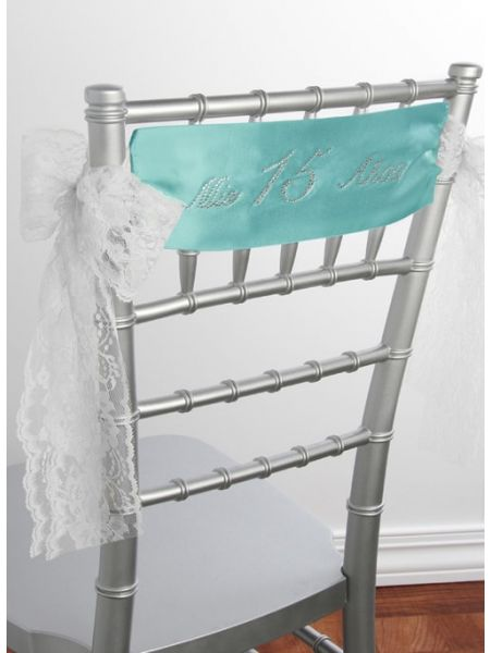 Mis Quince Anos Satin Chair Sash