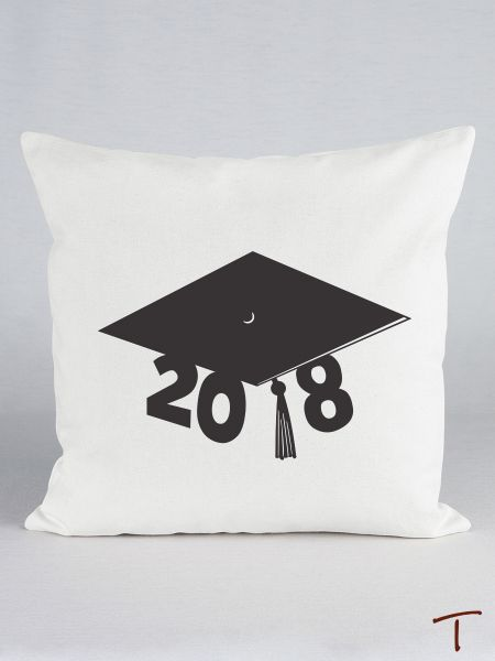 Graduation Cap Canvas Pillow