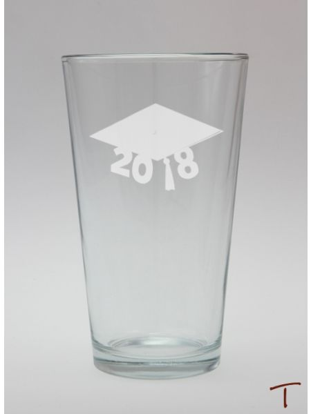 Graduation Cap Glass