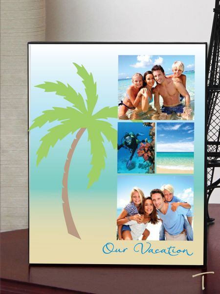 Beach Palm Photo Plaque