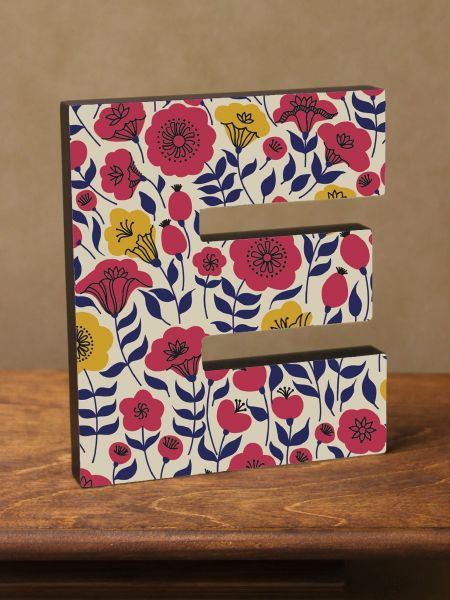 A-Z Poppy Flower Letter Plaques