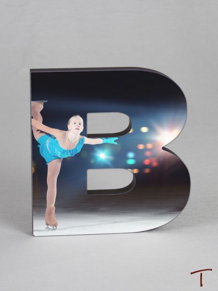 Photo Collage Letter Frame - B
