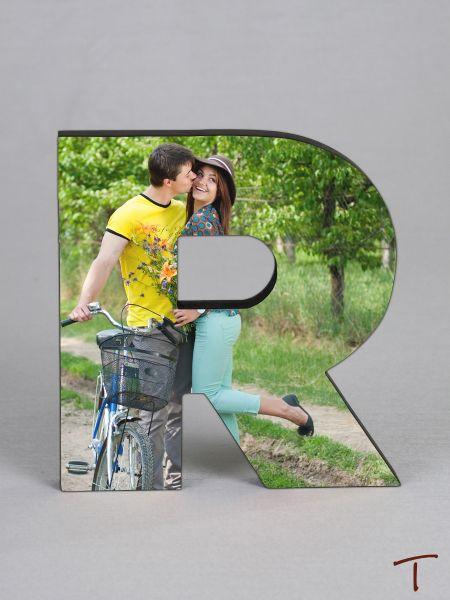 Photo Collage Letter Frame - R