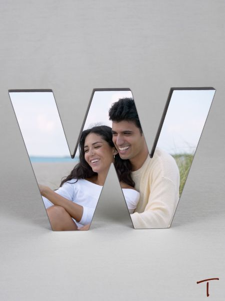 Photo Collage Letter Frame - W