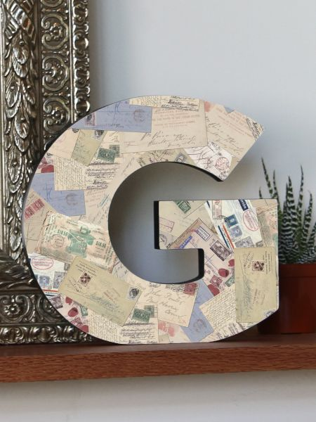 A-Z Mail Design Letter Plaques