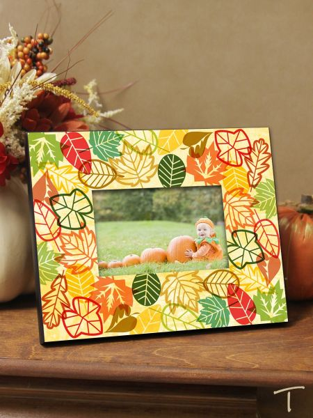 Tenereze Exclusive | Colorful Fall Leaves Frame