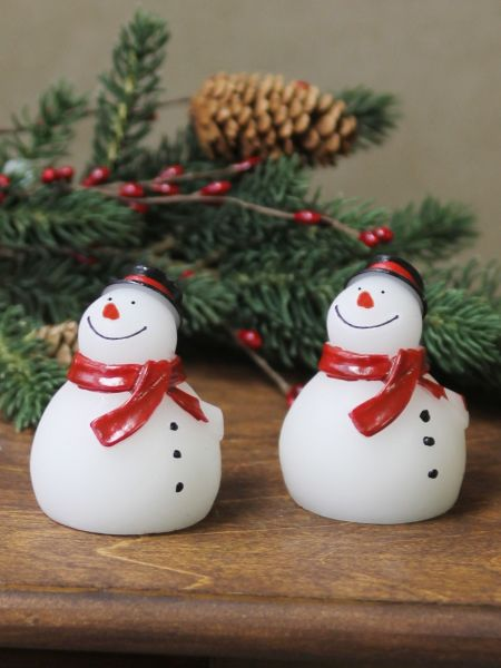 Mini Snowman LED Candles