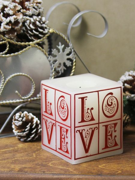 Red LOVE LED Candle