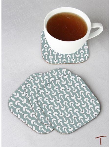 Tenereze Exclusive | Arrow Design Coasters - Set of 4