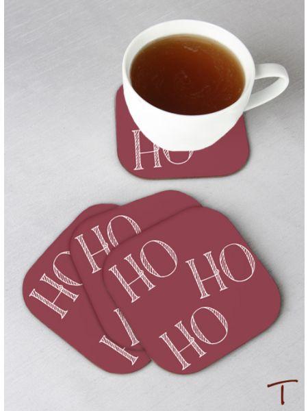 Tenereze Exclusive | HO HO HO Coasters - Set of 4