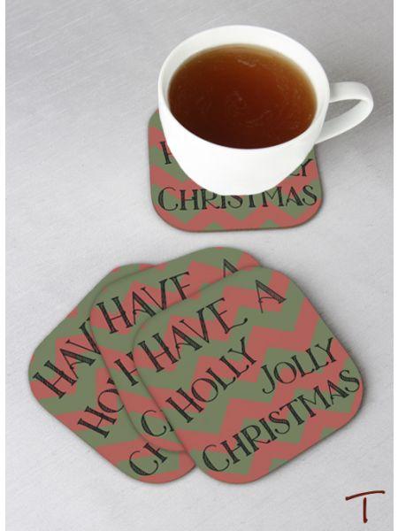 Tenereze Exclusive | Jolly Christmas Coasters - Set of 4