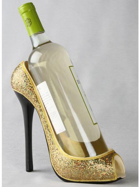 High Heel Gold Bottle Holder